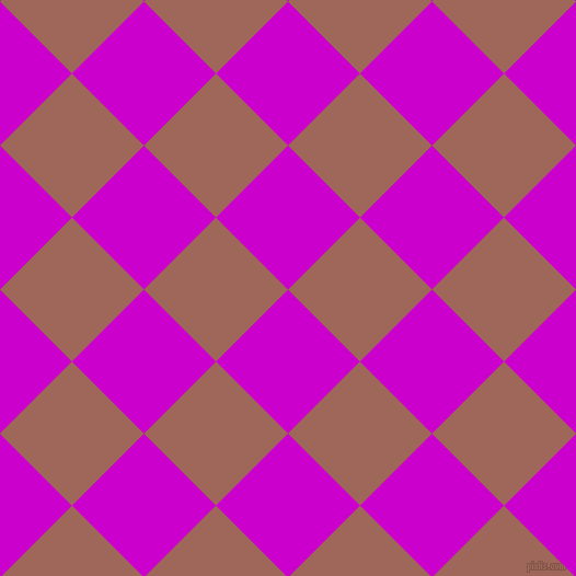 45/135 degree angle diagonal checkered chequered squares checker pattern checkers background, 93 pixel squares size, , Deep Magenta and Au Chico checkers chequered checkered squares seamless tileable