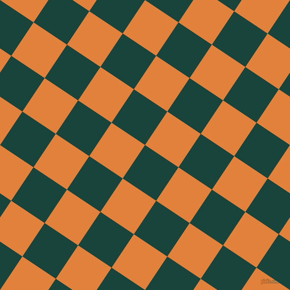 56/146 degree angle diagonal checkered chequered squares checker pattern checkers background, 79 pixel squares size, , Deep Teal and Tree Poppy checkers chequered checkered squares seamless tileable