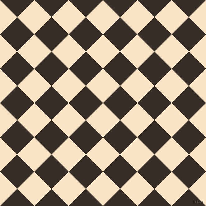 45/135 degree angle diagonal checkered chequered squares checker pattern checkers background, 78 pixel square size, , Derby and Coffee Bean checkers chequered checkered squares seamless tileable
