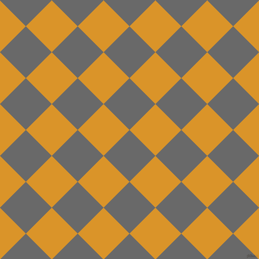 45/135 degree angle diagonal checkered chequered squares checker pattern checkers background, 118 pixel squares size, , Dim Gray and Buttercup checkers chequered checkered squares seamless tileable