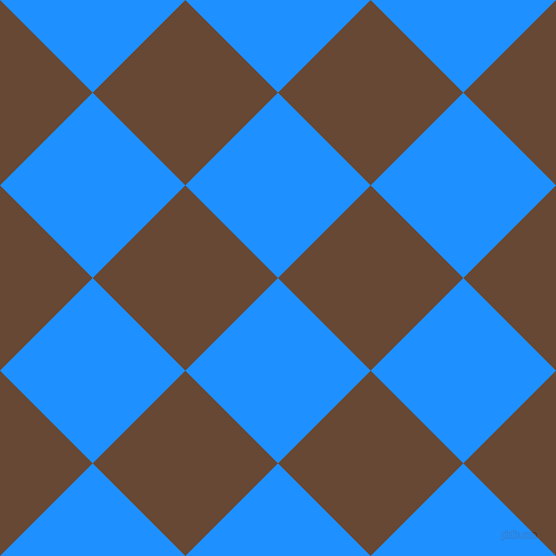 45/135 degree angle diagonal checkered chequered squares checker pattern checkers background, 131 pixel square size, , Dodger Blue and Jambalaya checkers chequered checkered squares seamless tileable