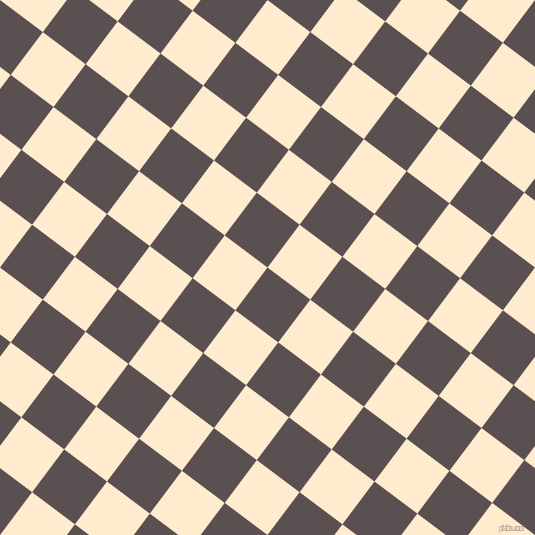 53/143 degree angle diagonal checkered chequered squares checker pattern checkers background, 78 pixel squares size, Don Juan and Blanched Almond checkers chequered checkered squares seamless tileable