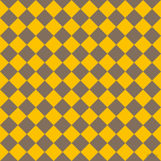 45/135 degree angle diagonal checkered chequered squares checker pattern checkers background, 41 pixel square size, , Donkey Brown and Golden Poppy checkers chequered checkered squares seamless tileable