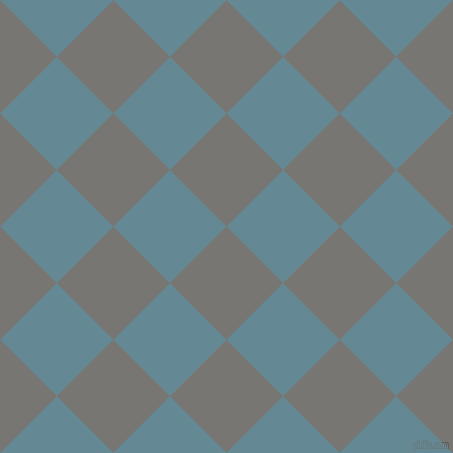 45/135 degree angle diagonal checkered chequered squares checker pattern checkers background, 80 pixel squares size, , Dove Grey and Horizon checkers chequered checkered squares seamless tileable