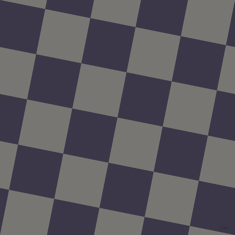 79/169 degree angle diagonal checkered chequered squares checker pattern checkers background, 161 pixel square size, , Dove Grey and Martinique checkers chequered checkered squares seamless tileable