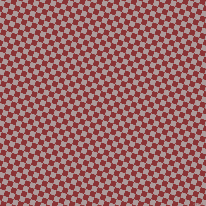 72/162 degree angle diagonal checkered chequered squares checker pattern checkers background, 19 pixel square size, , Dusty Grey and Old Brick checkers chequered checkered squares seamless tileable