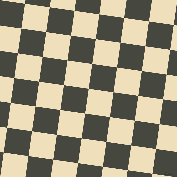 82/172 degree angle diagonal checkered chequered squares checker pattern checkers background, 105 pixel square size, , Dutch White and Heavy Metal checkers chequered checkered squares seamless tileable