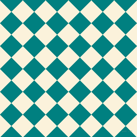 Early Dawn And Teal Checkers Chequered Checkered Squares Seamless Beauteous Checker Pattern