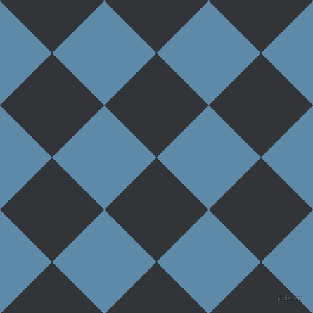 45/135 degree angle diagonal checkered chequered squares checker pattern checkers background, 105 pixel square size, , Ebony Clay and Air Force Blue checkers chequered checkered squares seamless tileable