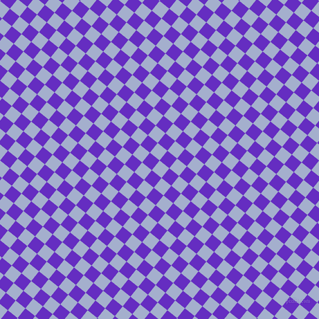51/141 degree angle diagonal checkered chequered squares checker pattern checkers background, 18 pixel square size, , Echo Blue and Purple Heart checkers chequered checkered squares seamless tileable