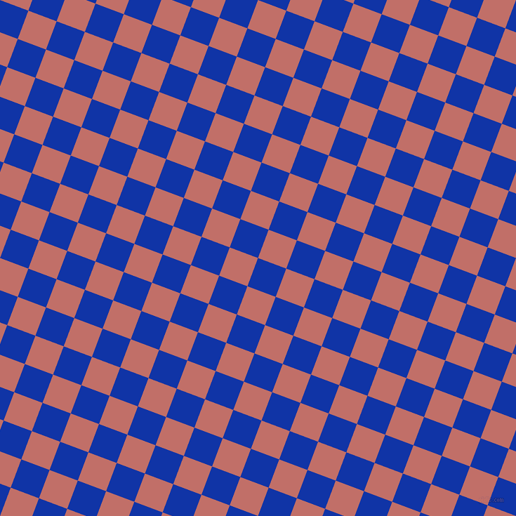 69/159 degree angle diagonal checkered chequered squares checker pattern checkers background, 43 pixel squares size, , Egyptian Blue and Contessa checkers chequered checkered squares seamless tileable
