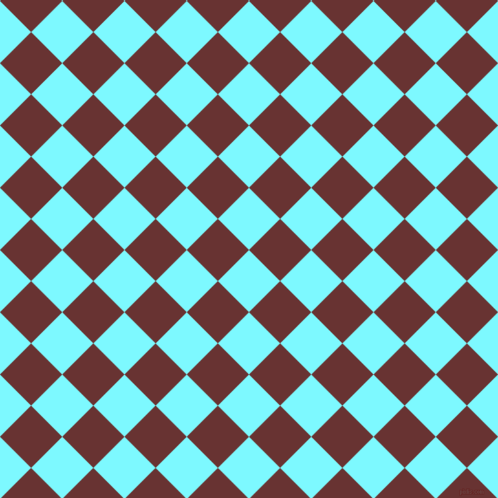 45/135 degree angle diagonal checkered chequered squares checker pattern checkers background, 64 pixel square size, , Electric Blue and Persian Plum checkers chequered checkered squares seamless tileable