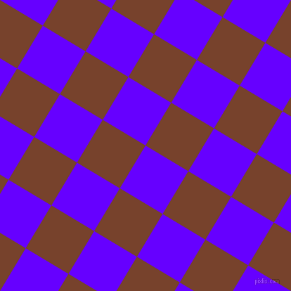 59/149 degree angle diagonal checkered chequered squares checker pattern checkers background, 71 pixel squares size, , Electric Indigo and Copper Canyon checkers chequered checkered squares seamless tileable