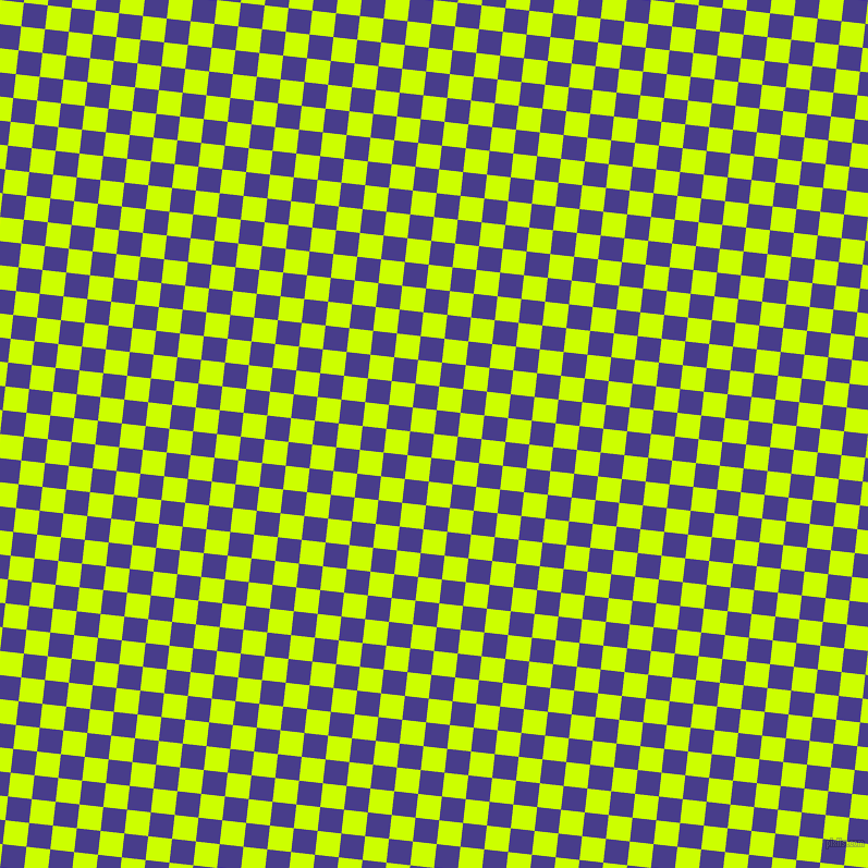 84/174 degree angle diagonal checkered chequered squares checker pattern checkers background, 22 pixel square size, , Electric Lime and Dark Slate Blue checkers chequered checkered squares seamless tileable
