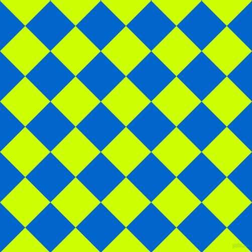 45/135 degree angle diagonal checkered chequered squares checker pattern checkers background, 71 pixel square size, , Electric Lime and Navy Blue checkers chequered checkered squares seamless tileable