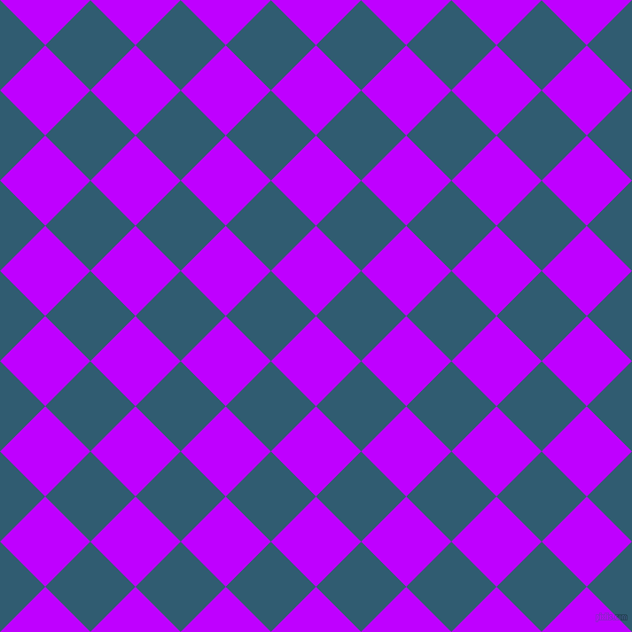 45/135 degree angle diagonal checkered chequered squares checker pattern checkers background, 72 pixel square size, Electric Purple and Blumine checkers chequered checkered squares seamless tileable