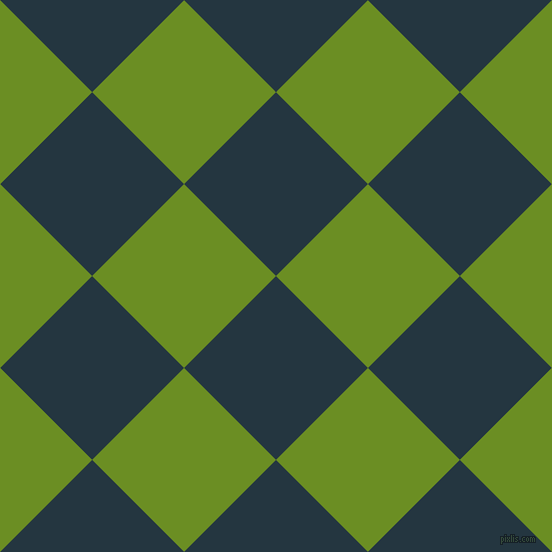 45/135 degree angle diagonal checkered chequered squares checker pattern checkers background, 130 pixel square size, Elephant and Olive Drab checkers chequered checkered squares seamless tileable