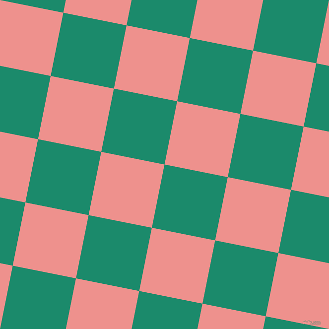 79/169 degree angle diagonal checkered chequered squares checker pattern checkers background, 130 pixel square size, , Elf Green and Sweet Pink checkers chequered checkered squares seamless tileable