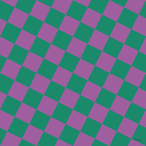 63/153 degree angle diagonal checkered chequered squares checker pattern checkers background, 56 pixel squares size, , Elf Green and Violet Blue checkers chequered checkered squares seamless tileable