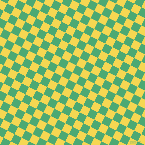 63/153 degree angle diagonal checkered chequered squares checker pattern checkers background, 27 pixel square size, , Energy Yellow and Ocean Green checkers chequered checkered squares seamless tileable
