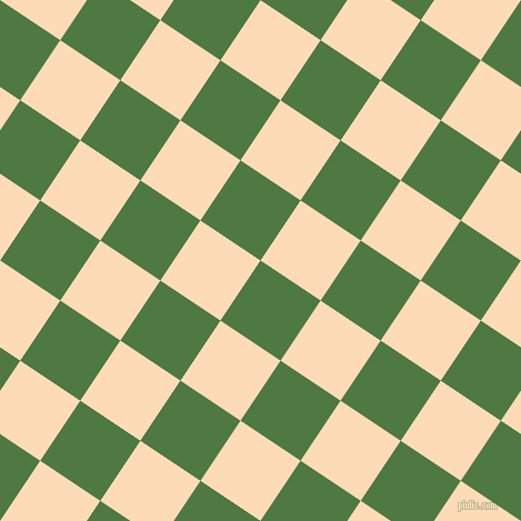 56/146 degree angle diagonal checkered chequered squares checker pattern checkers background, 65 pixel squares size, , Fern Green and Sandy Beach checkers chequered checkered squares seamless tileable