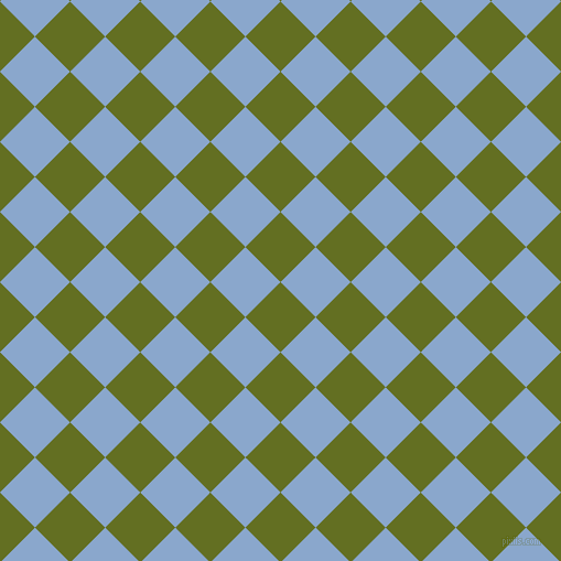 45/135 degree angle diagonal checkered chequered squares checker pattern checkers background, 45 pixel square size, , Fiji Green and Polo Blue checkers chequered checkered squares seamless tileable