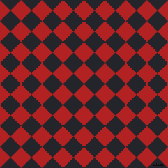 45/135 degree angle diagonal checkered chequered squares checker pattern checkers background, 51 pixel squares size, , Fire Brick and Black Russian checkers chequered checkered squares seamless tileable