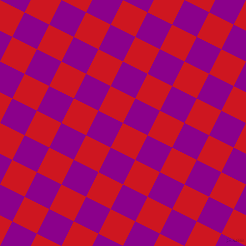 63/153 degree angle diagonal checkered chequered squares checker pattern checkers background, 56 pixel squares size, , Fire Engine Red and Dark Magenta checkers chequered checkered squares seamless tileable