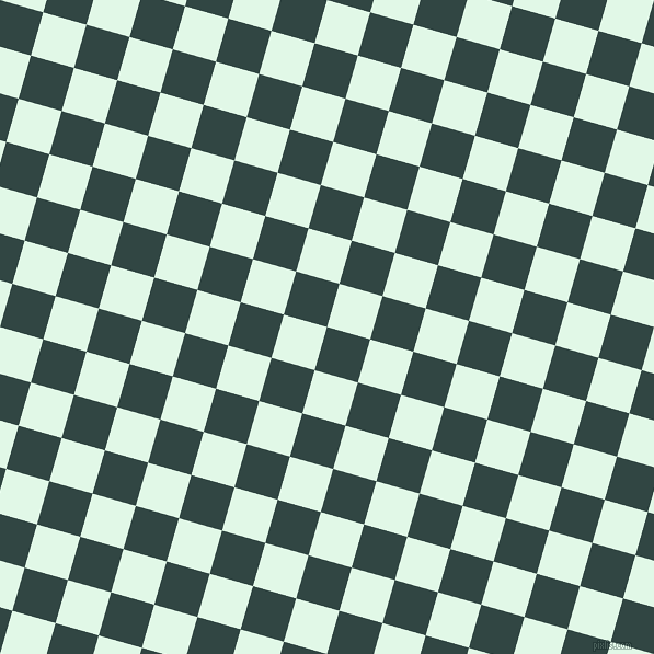 74/164 degree angle diagonal checkered chequered squares checker pattern checkers background, 41 pixel square size, , Firefly and Cosmic Latte checkers chequered checkered squares seamless tileable