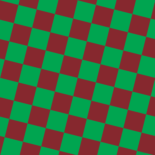 76/166 degree angle diagonal checkered chequered squares checker pattern checkers background, 62 pixel square size, , Flame Red and Pigment Green checkers chequered checkered squares seamless tileable