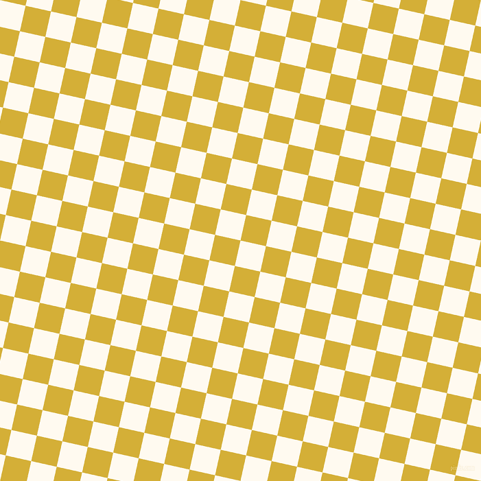77/167 degree angle diagonal checkered chequered squares checker pattern checkers background, 38 pixel squares size, , Floral White and Metallic Gold checkers chequered checkered squares seamless tileable