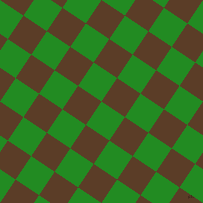 56/146 degree angle diagonal checkered chequered squares checker pattern checkers background, 94 pixel squares size, , Forest Green and Bracken checkers chequered checkered squares seamless tileable