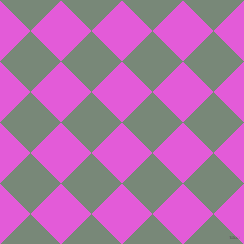 45/135 degree angle diagonal checkered chequered squares checker pattern checkers background, 139 pixel square size, , Free Speech Magenta and Davy