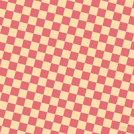 76/166 degree angle diagonal checkered chequered squares checker pattern checkers background, 26 pixel squares size, , Froly and Navajo White checkers chequered checkered squares seamless tileable