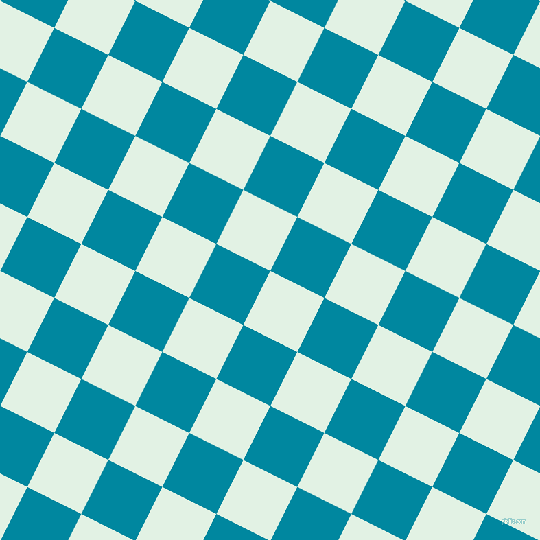 63/153 degree angle diagonal checkered chequered squares checker pattern checkers background, 88 pixel squares size, , Frosted Mint and Eastern Blue checkers chequered checkered squares seamless tileable