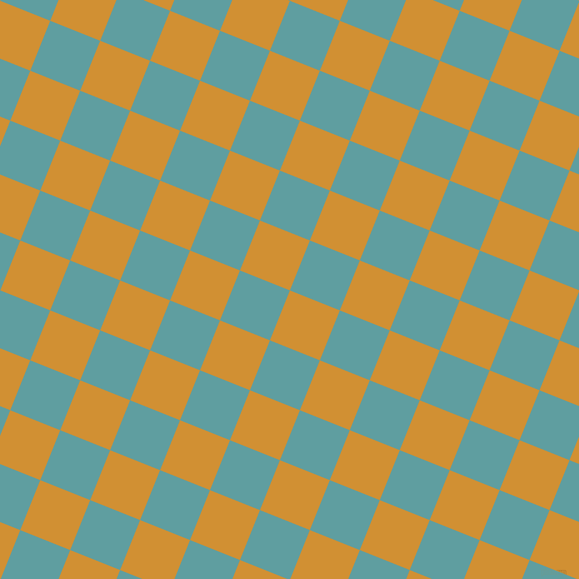 68/158 degree angle diagonal checkered chequered squares checker pattern checkers background, 77 pixel square size, , Fuel Yellow and Cadet Blue checkers chequered checkered squares seamless tileable