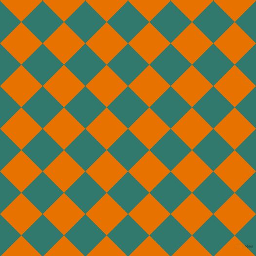 45/135 degree angle diagonal checkered chequered squares checker pattern checkers background, 62 pixel square size, , Genoa and Mango Tango checkers chequered checkered squares seamless tileable