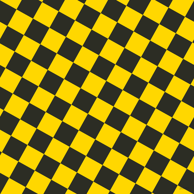 61/151 degree angle diagonal checkered chequered squares checker pattern checkers background, 76 pixel square size, , Gold and Green Waterloo checkers chequered checkered squares seamless tileable