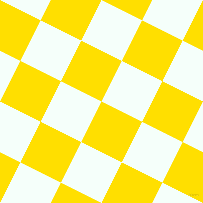 63/153 degree angle diagonal checkered chequered squares checker pattern checkers background, 154 pixel square size, , Golden Yellow and Mint Cream checkers chequered checkered squares seamless tileable