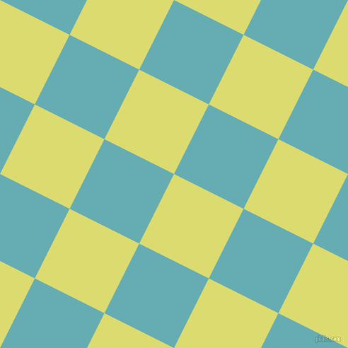 63/153 degree angle diagonal checkered chequered squares checker pattern checkers background, 110 pixel square size, , Goldenrod and Fountain Blue checkers chequered checkered squares seamless tileable