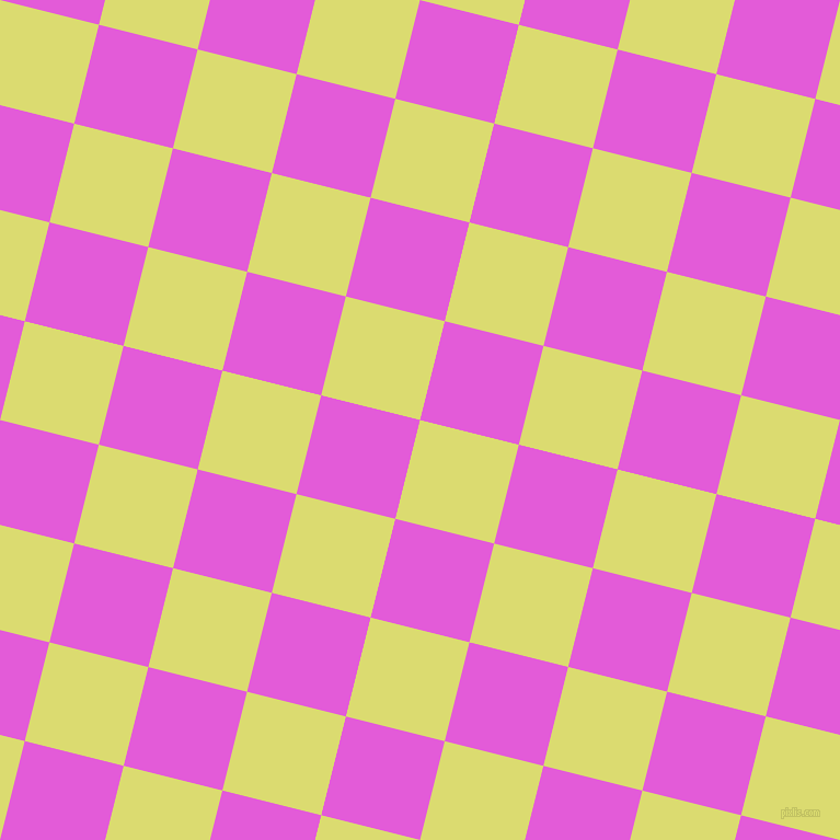 76/166 degree angle diagonal checkered chequered squares checker pattern checkers background, 93 pixel square size, , Goldenrod and Free Speech Magenta checkers chequered checkered squares seamless tileable