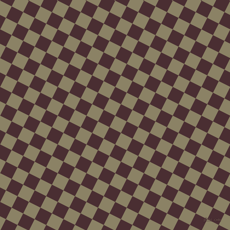 63/153 degree angle diagonal checkered chequered squares checker pattern checkers background, 26 pixel square size, , Granite Green and Cab Sav checkers chequered checkered squares seamless tileable