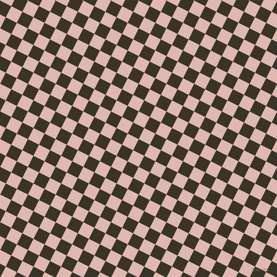 63/153 degree angle diagonal checkered chequered squares checker pattern checkers background, 25 pixel squares size, , Graphite and Cavern Pink checkers chequered checkered squares seamless tileable