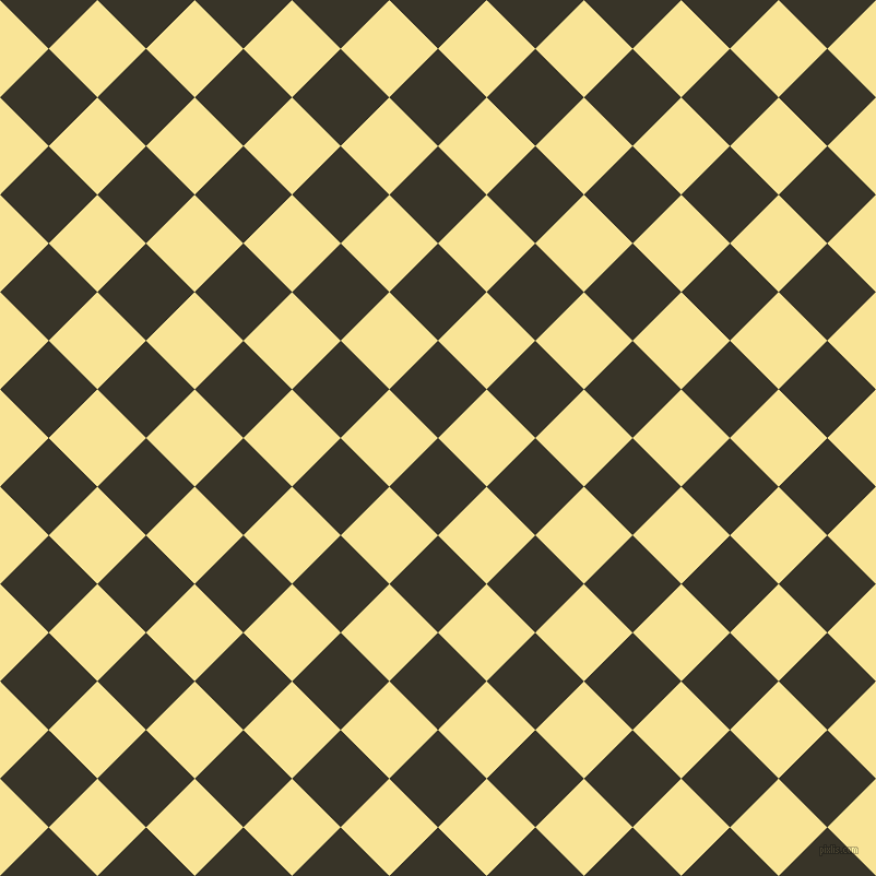 45/135 degree angle diagonal checkered chequered squares checker pattern checkers background, 63 pixel square size, Graphite and Vis Vis checkers chequered checkered squares seamless tileable