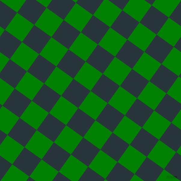 54/144 degree angle diagonal checkered chequered squares checker pattern checkers background, 70 pixel square size, , Green and Oxford Blue checkers chequered checkered squares seamless tileable