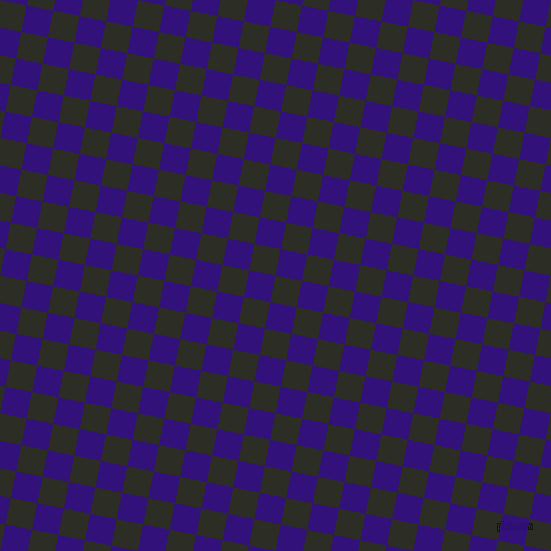 79/169 degree angle diagonal checkered chequered squares checker pattern checkers background, 27 pixel squares size, , Green Waterloo and Persian Indigo checkers chequered checkered squares seamless tileable