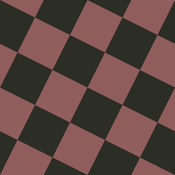 63/153 degree angle diagonal checkered chequered squares checker pattern checkers background, 129 pixel squares size, , Green Waterloo and Rose Taupe checkers chequered checkered squares seamless tileable