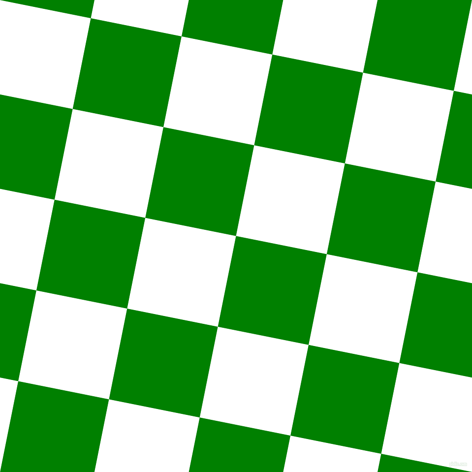 Green And White Checkers Chequered Checkered Squares