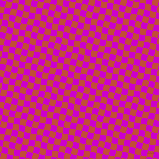 79/169 degree angle diagonal checkered chequered squares checker pattern checkers background, 26 pixel square size, , Grenadier and Deep Magenta checkers chequered checkered squares seamless tileable