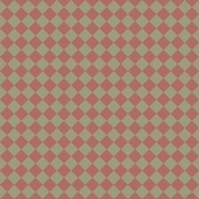 45/135 degree angle diagonal checkered chequered squares checker pattern checkers background, 35 pixel squares size, , Grey Olive and Coral Tree checkers chequered checkered squares seamless tileable